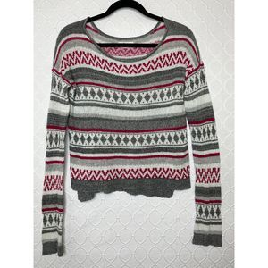 Hollister Fair Isle Boxy Pullover Sweater Size M/L
